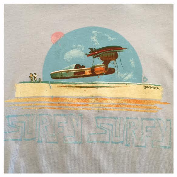 Surfy Landspeeder Tee -  Women's blue